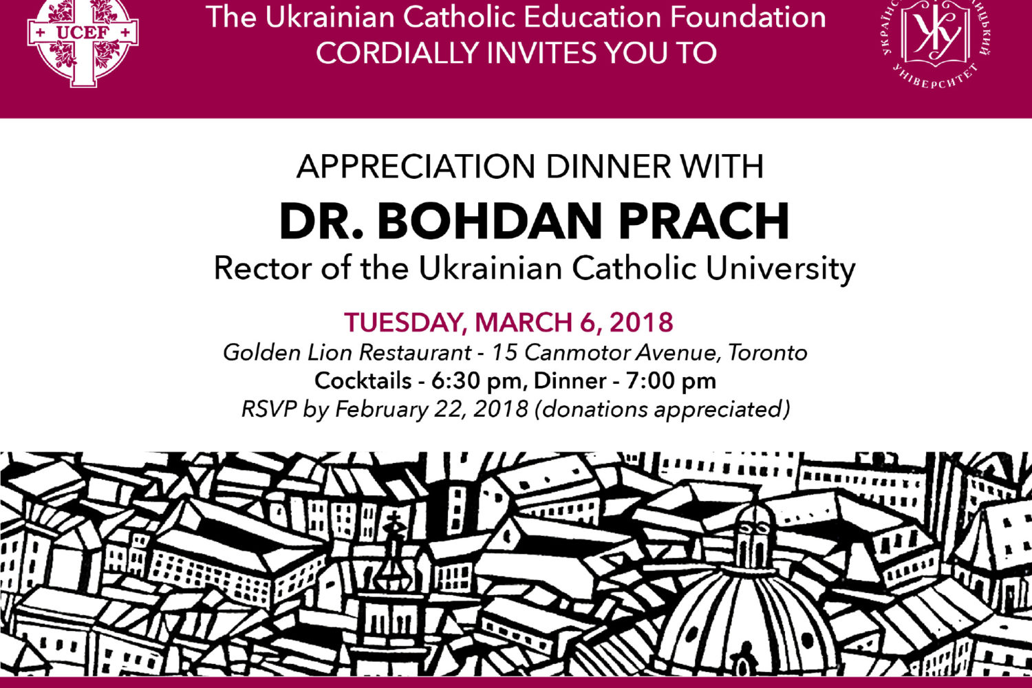 Appreciation Dinner with Dr. Bohdan Prach