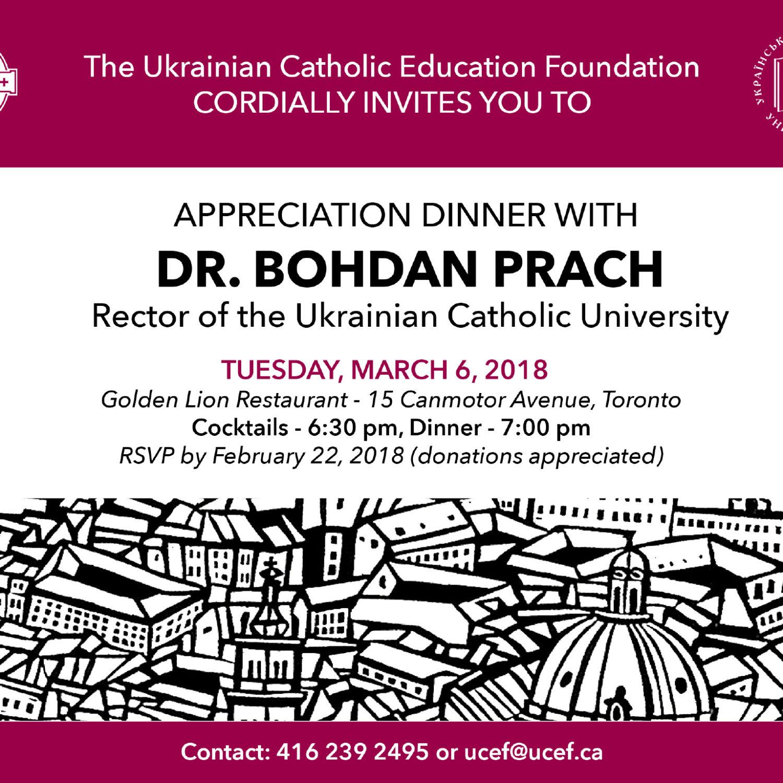 Appreciation Dinner with Dr. Bohdan Prach