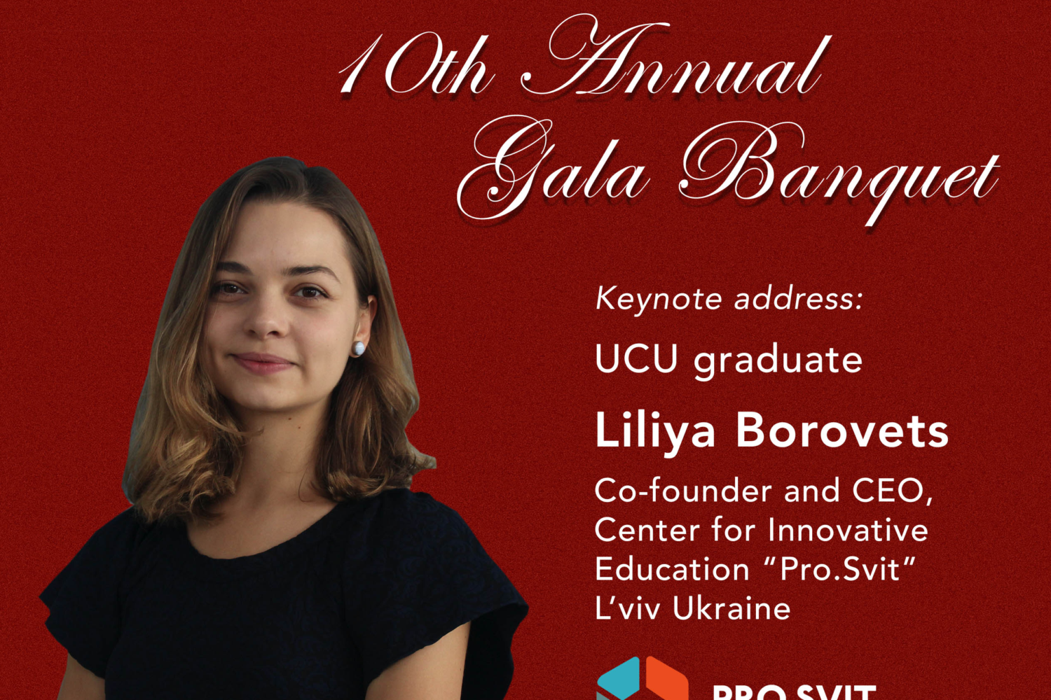 Thursday September 20,    10th Annual Gala Banquet in support of UCU and exchange program with St. Mary's University